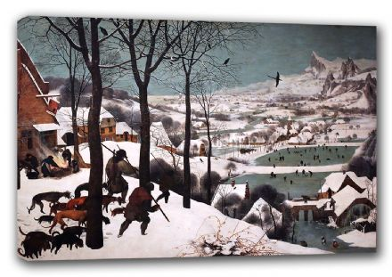 Bruegel the Elder, Pieter: Hunters in the Snow. Hunting Scene Fine Art Canvas. Sizes: A3/A2/A1 (00235)